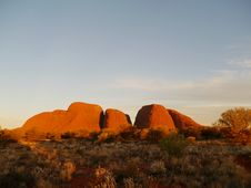 The Olgas In The Red Centre Stock Photography