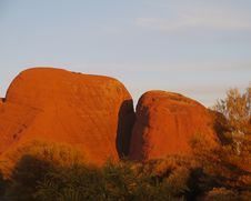 The Olgas In The Red Centre Stock Photo