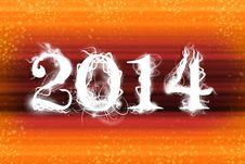 2014 Organge Wallpaper Royalty Free Stock Image