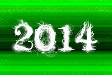 2014 Green Wallpaper Royalty Free Stock Image