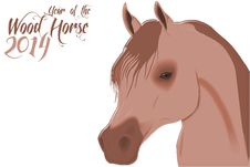 Free 2014 Wood Horse Royalty Free Stock Images - 36636229