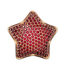 Free 3d Golden Star Symbol With Ruby Crystals Royalty Free Stock Photo - 36636905