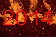 Free Fiery New Year Royalty Free Stock Photo - 36637385