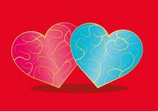 Free Two Hearts Royalty Free Stock Photography - 36638737