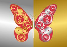 Mechanical Butterfly Royalty Free Stock Photography