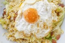 Free Fried Rice With Chinese Sausage  And Salted Egg Yolk Royalty Free Stock Photo - 36639145