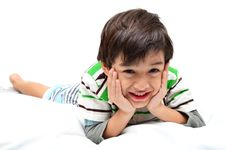 Free Portrait Boy Lay Down Stock Image - 36639531