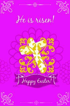 Happy Easter: Christ Is Risen Stock Images