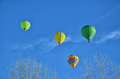 Free Four Hot Air Balloons In The Air Stock Images - 36646334
