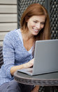 Free Woman Working Home On Laptop Stock Photography - 36649312