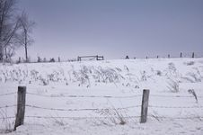 Scenic Winter Farm Landscape Royalty Free Stock Photos