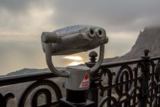 Binoculars Telescope Looking Foros Panorama Stock Image