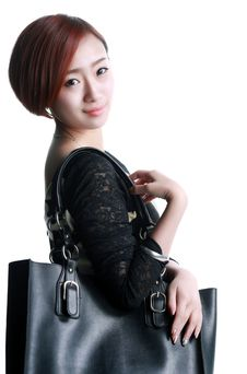 Free Chinese Girl Kua Shoulder Bag Stock Photo - 36640730
