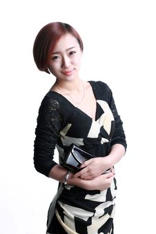 Free Asian Girl Holding A Purse Royalty Free Stock Image - 36640966