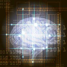 Cyber Brain Stock Photos