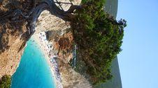 View On Porto Katsiki Beach In Lefkada Royalty Free Stock Photography