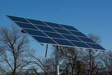 Solar Panels In A Field Stock Image