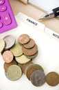 Free Coins On Finance Page Royalty Free Stock Images - 36650859