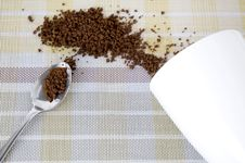 Free Instant Coffee In Spoon Stock Photography - 36650892