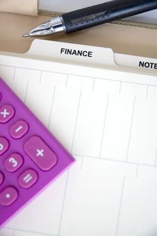 Free Open Finance Page Of Planner Stock Images - 36650894