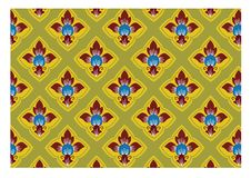 Thai Traditional Style Art Pattern Stock Photo
