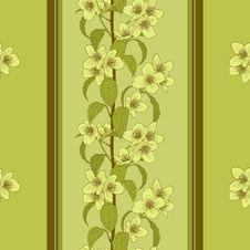 Free Vector Seamless Floral Background. Stock Photos - 36656403
