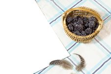Free Frosted Blackberry In Basket Stock Photos - 36657333