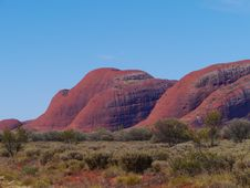 The Red Olgas Royalty Free Stock Photos