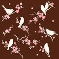 Free Bird In Floral Twig Set Stock Image - 36660011
