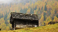 Free Alps Autumn Landscape And Hut Stock Photo - 36660540