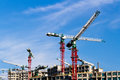 Free Cranes At Construction Site Royalty Free Stock Image - 36661116