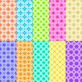 Free 10 Colorful Flower Patterns Royalty Free Stock Images - 36662389