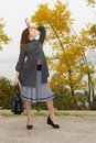 Free Fashionable Young Woman With Hand Bag Royalty Free Stock Photos - 36663288