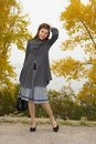 Free Fashionable Young Woman With Hand Bag Stock Photo - 36663290