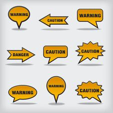 Warning Bubbles Stock Images