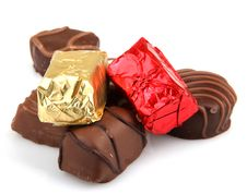 Free Assorted Fine Chocolates Royalty Free Stock Photos - 36662138