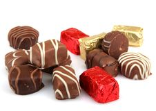 Free Assorted Fine Chocolates Royalty Free Stock Image - 36662146
