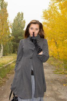 Woman Asks To Keep Silence Stock Photography