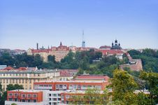 Free Prague City View From Vysehrad Stock Photography - 36664962