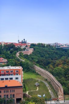 Free Prague City View From Vysehrad Royalty Free Stock Image - 36665176