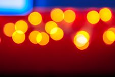 Free Abstract Background Of Blurred Lights With Bokeh Effect Stock Photography - 36667422