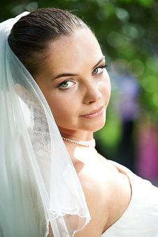Free Portrait Of Happy Bride Royalty Free Stock Photo - 36667935