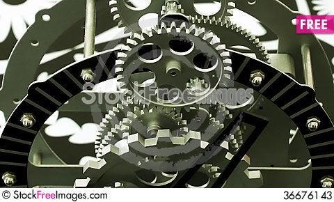 Free Clock Gears Stock Photos - 36676143