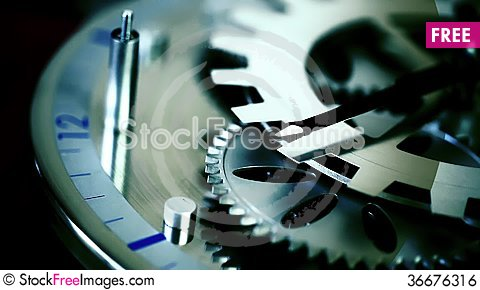 Free Clock Gears Royalty Free Stock Image - 36676316