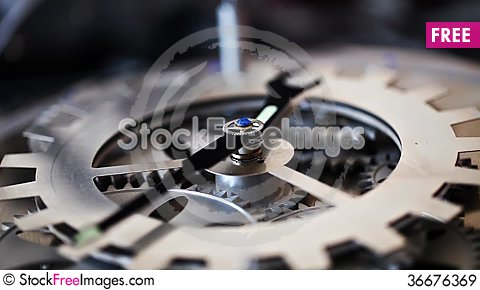 Free Clock Gears Royalty Free Stock Images - 36676369