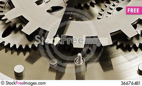Free Clock Gears Stock Image - 36676481