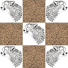 Free Cheetah Patterns For Textiles And Wallpaper Royalty Free Stock Image - 36671016