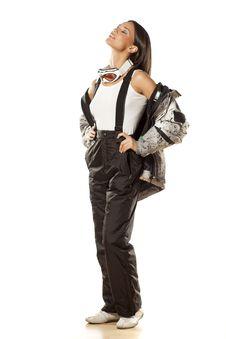 Free Girl In Ski Pants Stock Images - 36673804