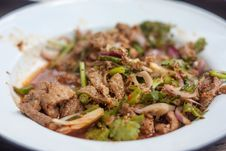 Free Spicy Thai Food Larb, Pork Royalty Free Stock Photography - 36673827