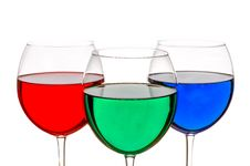 Free Colorful Drinks Royalty Free Stock Photo - 36674035